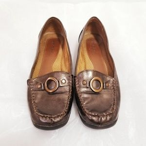 Naturalizer| 💜 Copper Brown Metallic Loafers
